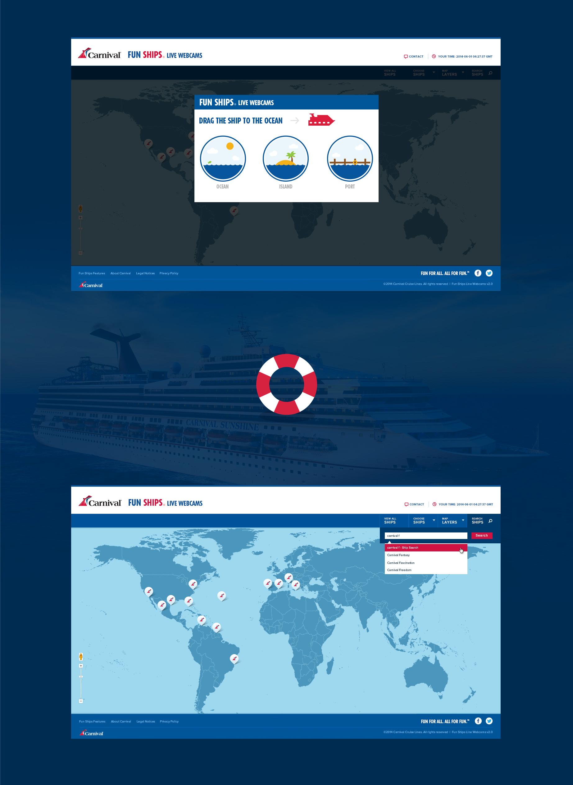Carnival Fun Ships Website Design Agency - Cruise ship live webcams